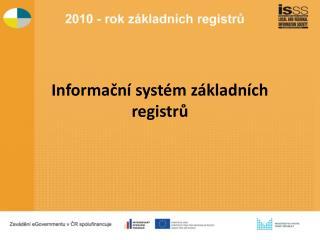 Informační systém základních registrů