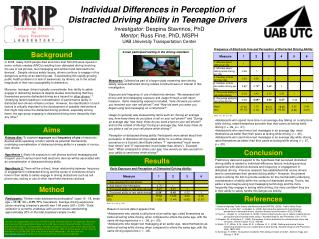 Individual Differences in Perception of  Distracted Driving Ability in Teenage Drivers