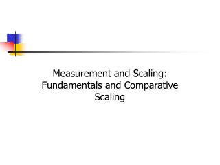 Measurement and Scaling:      Fundamentals and Comparative Scaling