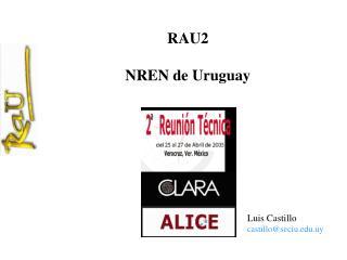 RAU2 NREN de Uruguay