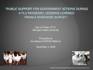 Hye-Jin Paek, Ph.D. Michigan State University Presented at the National SOPHE Webinar