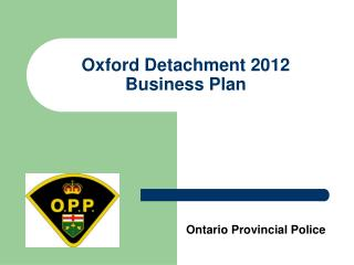 Oxford Detachment 2012 Business Plan