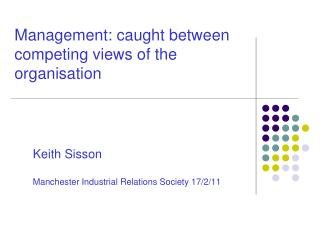 Management: caught between competing views of the organisation