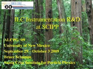 ILC Instrumentation R&D at SCIPP