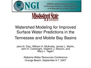 Watershed Modeling for Improved Surface Water Predictions in the Tennessee and Mobile Bay Basins