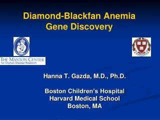 Diamond-Blackfan Anemia Gene Discovery