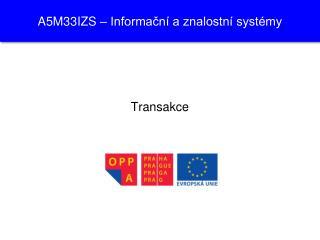 A 5M 33 IZS – Informační a znalostní systémy