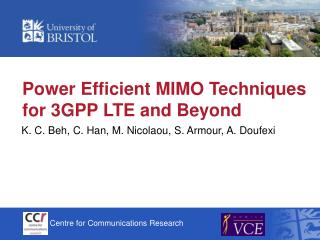 Power Efficient MIMO Techniques for 3GPP LTE and Beyond
