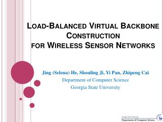 Load-Balanced Virtual Backbone Construction for Wireless Sensor Networks