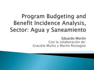 Program Budgeting and Benefit Incidence Analysis, Sector: Agua y Saneamiento