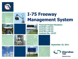 I-75 Freeway Management System
