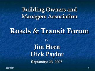 Building Owners and Managers Association