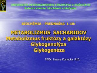 MVDr. Zuzana Kostecká, PhD.