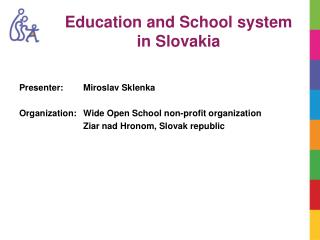 Ed ucation  and School system  in Slovakia