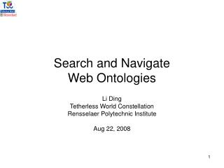 Search and Navigate  Web Ontologies