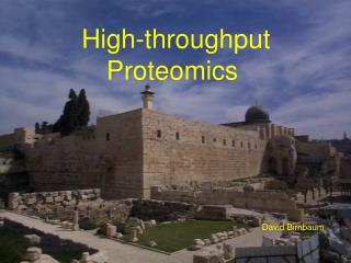 High-throughput Proteomics