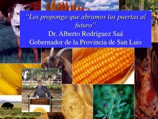GOBIERNO DE LA PROVINCIA DE SAN LUIS Programa Producción Agropecuaria, Minería y Agua