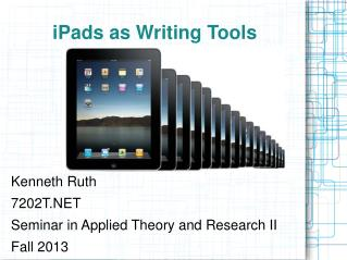 iPads as Writing Tools