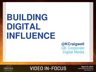 BUILDING DIGITAL INFLUENCE