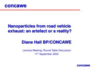 Nanoparticles from road vehicle exhaust: an artefact or a reality?