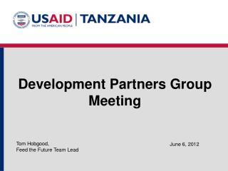 Development Partners Group  Meeting