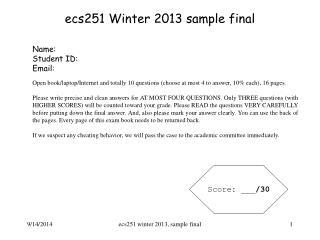 ecs251 Winter 2013 sample final