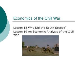 Economics of the Civil War