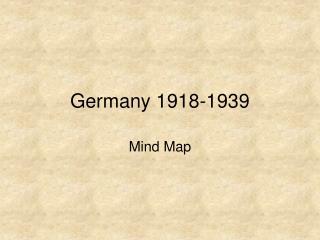 Germany 1918-1939