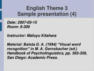 English Theme 3  Sample presentation (4)