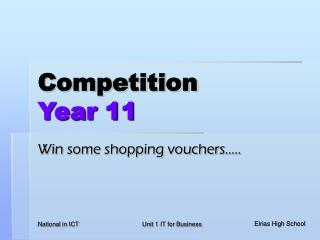 Competition  Year 11