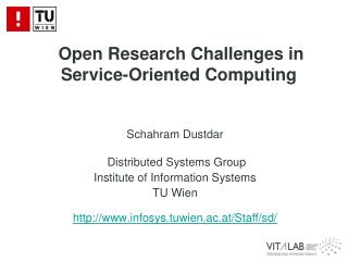 Open Research Challenges in  Service-Oriented Computing