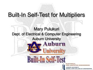 Built-In Self-Test for Multipliers