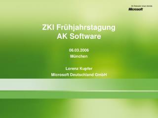 ZKI Frühjahrstagung AK Software