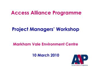 Access Alliance Programme