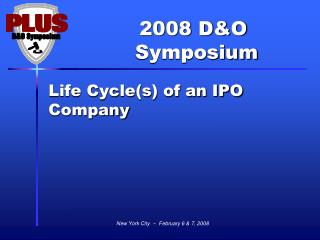 Life Cycle(s) of an IPO Company