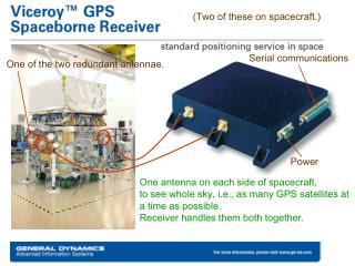 One antenna on each side of spacecraft,  to see whole sky, i.e., as many GPS satellites at