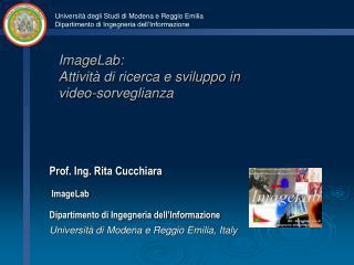 ImageLab : Attività di ricerca e sviluppo in video-sorveglianza
