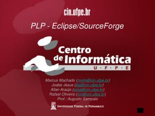 PLP - Eclipse/SourceForge