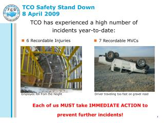 TCO Safety Stand Down 8 April 2009