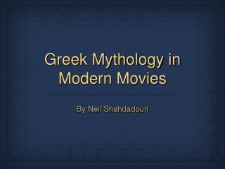 Greek Mythology in Modern Movies