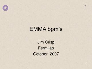 EMMA bpm's