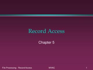Record Access