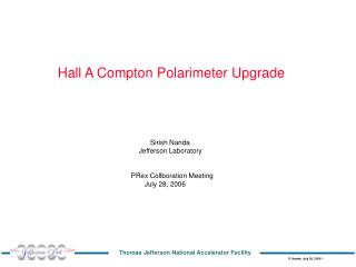 Hall A Compton Polarimeter Upgrade