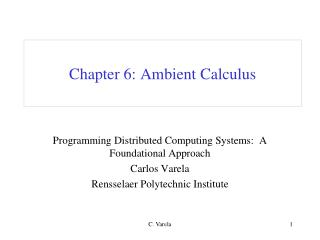 Chapter 6: Ambient Calculus