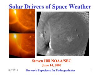 Solar Drivers of Space Weather