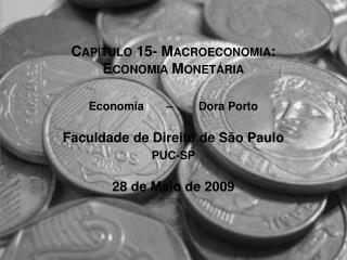 Capítulo 15- Macroeconomia: Economia Monetária