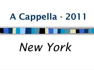 A Cappella - 2011
