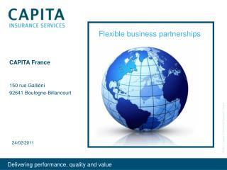 CAPITA France 150 rue Galliéni 92641 Boulogne-Billancourt