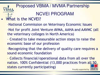 What is the NCVEI? National Commission on Veterinary Economic Issues