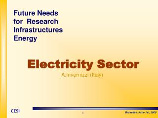 Electricity Sector A.Invernizzi (Italy)